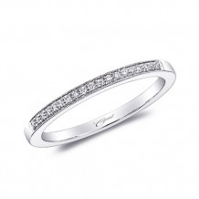 Coast 14k White Gold 0.07ct Diamond Wedding Band