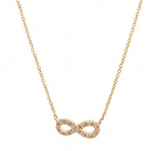 Lau International 14k Yellow Gold Diamond Infinity Necklace