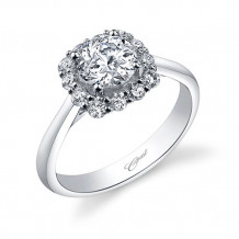 14k White Gold Coast Diamond 0.45ct Diamond Semi-Mount Engagement Ring