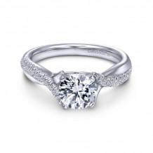 Gabriel & Co. 14k White Gold Contemporary Twisted Diamond Engagement Ring - ER10951W44JJ