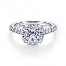 Gabriel & Co. 14k White Gold Contemporary Halo Diamond Engagement Ring - ER14102W44JJ