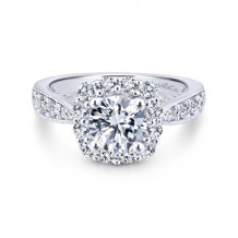 Gabriel & Co. 14k White Gold Entwined Halo Diamond Engagement Ring - ER12840R4W44JJ