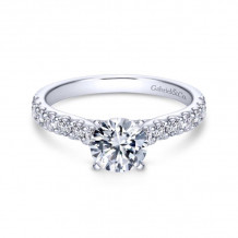 Gabriel & Co. 14k White Gold Contemporary Straight Diamond Engagement Ring - ER6703W44JJ