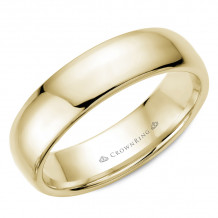 CrownRing 14k Yellow Gold Traditional 6mm Wedding band - TDH14Y6