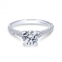 Gabriel & Co. 14k White Gold Contemporary Straight Diamond Engagement Ring - ER7225W44JJ