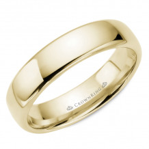 CrownRing 14k Yellow Gold Traditional 5.5mm Wedding band - TDS14Y55