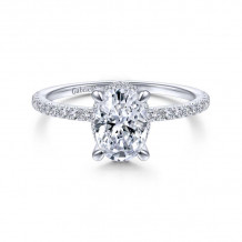 Gabriel & Co. 14k White Gold Contemporary Halo Diamond Engagement Ring - ER14719O4W44JJ