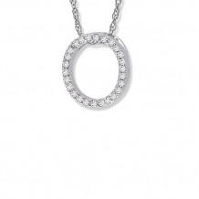 Lau International 14K White Gold Diamond Initial O Pendant