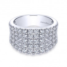 Gabriel & Co. 14k White Gold Lusso Diamond Ring - LR6365W44JJ
