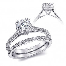 14k White Gold Coast Diamond 0.34ct Diamond Semi-Mount Fishtail Engagement Ring