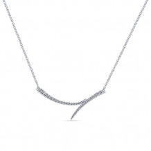 Gabriel & Co. 14k White Gold Kaslique Diamond Bar Necklace - NK5569W45JJ