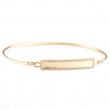 Lau International 14k Yellow Gold Diamond Bangle Bracelet