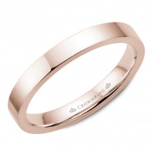 CrownRing 14k Rose Gold Traditional 3mm Wedding band - TFH14R3