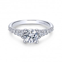 Gabriel & Co. 14k White Gold Contemporary Straight Diamond Engagement Ring - ER11755R3W44JJ