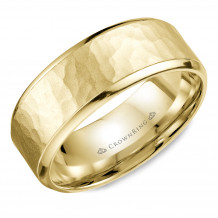 CrownRing 14k Yellow Gold Carved 8mm Wedding Band - WB-9968Y