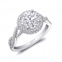 14k White Gold Coast Diamond 0.34ct Diamond Semi-Mount Fishtail Engagement Ring