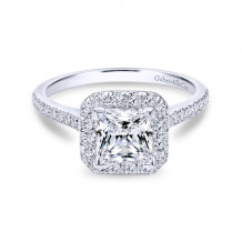 Gabriel & Co. 14k White Gold Contemporary Halo Diamond Engagement Ring - ER7266W44JJ