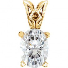 Stuller 14k Yellow Gold Forever One Charles & Colvard Moissanite