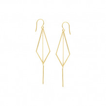 Midas 14k Yellow Gold Diamond Shape Dangle Earrings