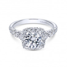Gabriel & Co. 14k White Gold Contemporary Halo Diamond Engagement Ring - ER10909W44JJ