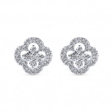 Gabriel & Co. 14k White Gold Lusso Diamond Stud Earrings - EG12221W45JJ
