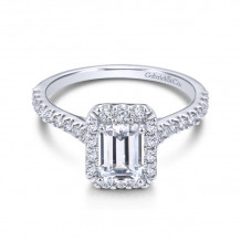 Gabriel & Co. 14k White Gold Contemporary Halo Diamond Engagement Ring - ER7840W44JJ