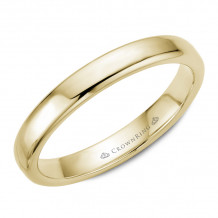 CrownRing 14k Yellow Gold Traditional 3.5mm Wedding band - TDS14Y35