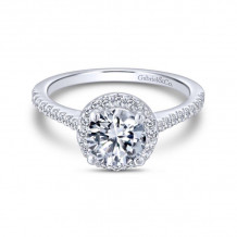 Gabriel & Co. 14k White Gold Contemporary Halo Diamond Engagement Ring - ER6419W44JJ