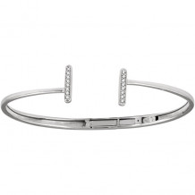 Stuller 14k White Gold Diamond Vertical Bar Cuff Bracelet