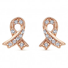 14k Rose Gold Gabriel & Co. Diamond Stud Earrings