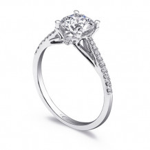14k White Gold Coast Diamond 0.13ct Diamond Semi-Mount Fishtail Engagement Ring