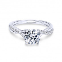 Gabriel & Co. 14k White Gold Contemporary Twisted Diamond Engagement Ring - ER11794R3W44JJ