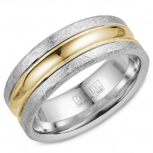 Crown Ring 14k Two Tone Gold Wedding Band
