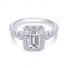 Gabriel & Co. 14k White Gold Contemporary Halo Diamond Engagement Ring - ER13885E4W44JJ