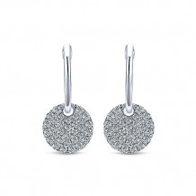 Gabriel & Co. 14k White Gold Lusso Diamond Drop Earrings - EG12654W45JJ