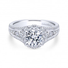 Gabriel & Co. 14k White Gold Entwined Halo Diamond Engagement Ring - ER12610R4W44JJ