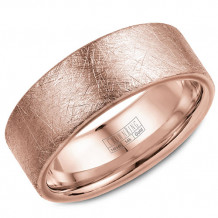 Crown Ring 14k Rose Gold Wedding Band
