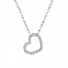 Gabriel & Co. 14k White Gold Eternal Love Diamond Heart Necklace - NK2239W45JJ