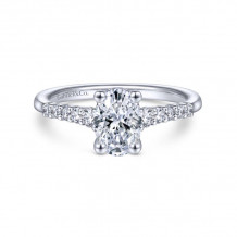 Gabriel & Co. 14k White Gold Contemporary Straight Diamond Engagement Ring - ER11755O3W44JJ