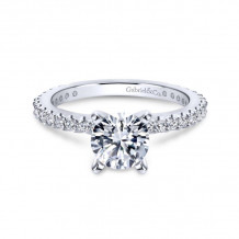 Gabriel & Co. 14k White Gold Contemporary Straight Diamond Engagement Ring - ER4124W44JJ