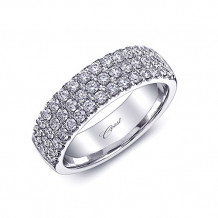 Coast 14k White Gold 0.88ct Diamond Wedding Band