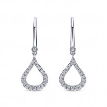 Gabriel & Co. 14k White Gold Lusso Diamond Drop Earrings - EG12201W45JJ