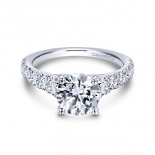 Gabriel & Co. 14k White Gold Contemporary Straight Diamond Engagement Ring - ER12299R6W44JJ