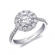 14k White Gold Coast Diamond 0.69ct Diamond Semi-Mount Fishtail Engagement Ring