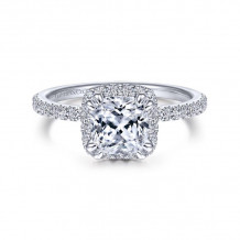 Gabriel & Co. 14k White Gold Contemporary Halo Diamond Engagement Ring - ER14962C6W44JJ