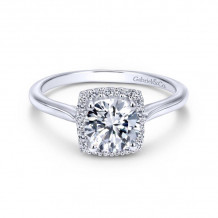Gabriel & Co. 14k White Gold Contemporary Halo Diamond Engagement Ring - ER7818W44JJ