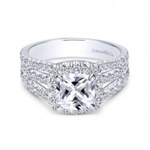 Gabriel & Co. 14k White Gold Contemporary Halo Diamond Engagement Ring - ER8903W44JJ