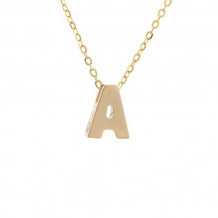 Lau International 14k Yellow Gold Initial A Pendant with Chain