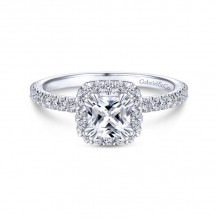 Gabriel & Co. 14k White Gold Contemporary Halo Diamond Engagement Ring - ER14664C3W44JJ
