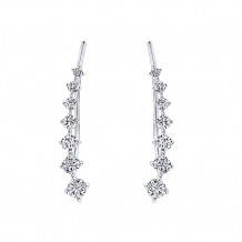 Gabriel & Co. 14k White Gold Lusso Diamond Stud Earrings - EG13180W45JJ